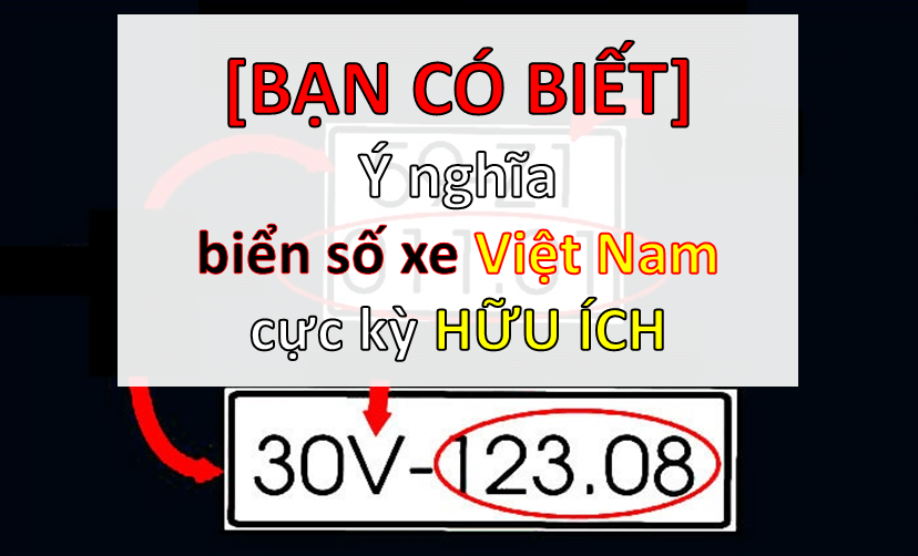 ý nghĩa biển số xe Việt Nam