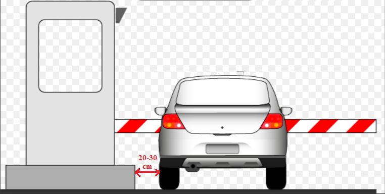Hình 3-25: Dừng sát về bên trái cổng thu phí sử dụng dịch vụ đường bộ