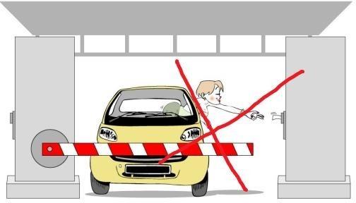 Hình 3-26: Dừng quá xa về bên phải cổng thu phí sử dụng dịch vụ đường bộ