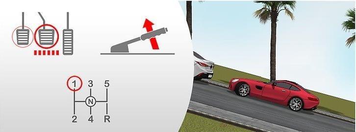Hình 3-9: Dừng xe trên dốc lên