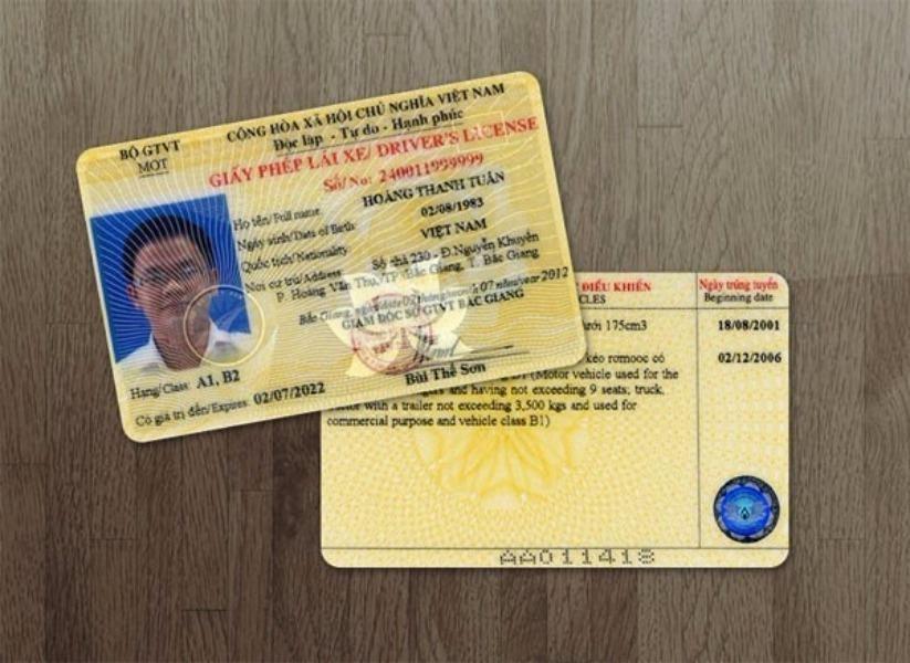 các hạng giấy phép lái xe ô tô