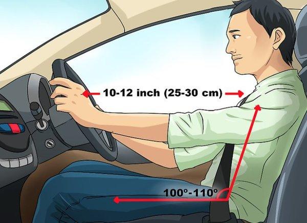 Tư thế ngồi lái xe ô tô đúng cách ĐẢM BẢO thoải mái AN TOÀN