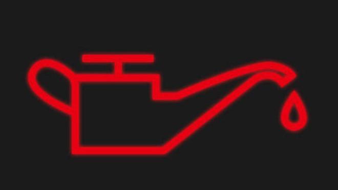 Ký hiệu cảnh báo áp suất dầu mức thấp
