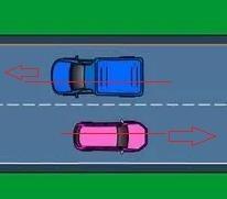 Hình 3-2: Tránh nhau trên đường hai chiều